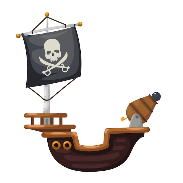 Piratenschip Premium Vector