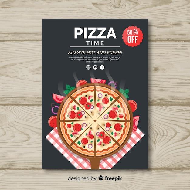 Pizza flyer sjabloon Gratis Vector