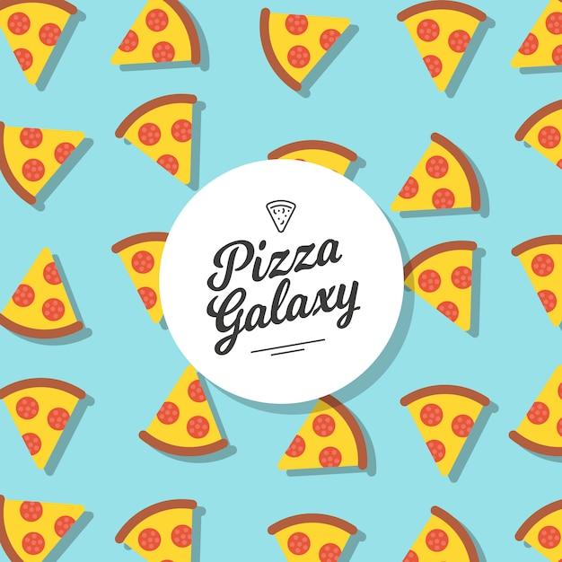 Pizza patroon achtergrond Gratis Vector