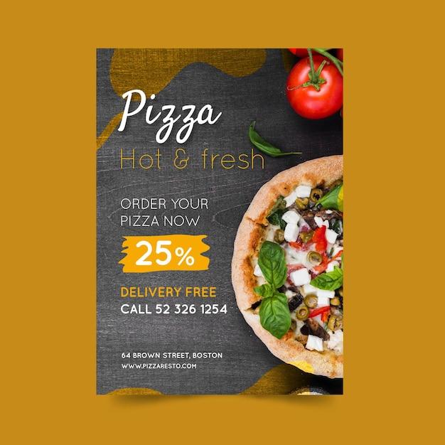 Pizza restaurant poster Premium Vector