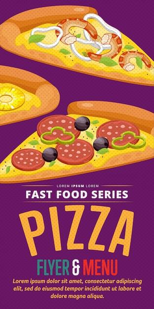 Pizza verkoop flyer. Premium Vector