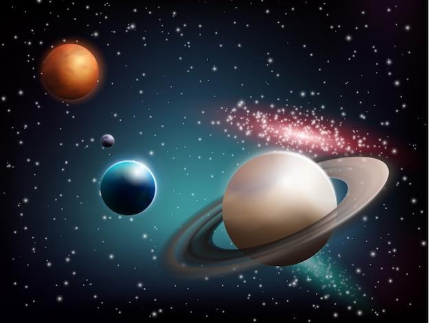 Planeet ingesteld Gratis Vector