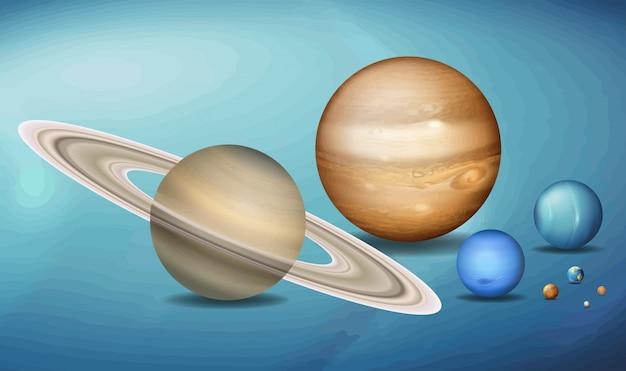 Planeten in de ruimtelijkheid Gratis Vector