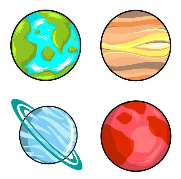 Planeten Premium Vector