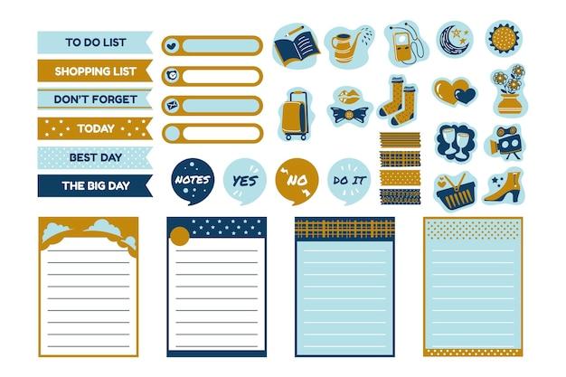 Planner plakboekpakket Gratis Vector