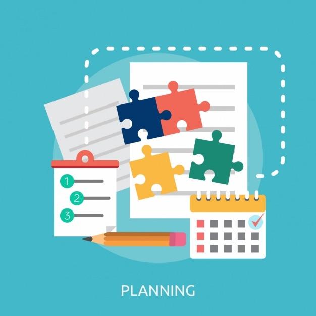 Planning achtergrond ontwerp Gratis Vector
