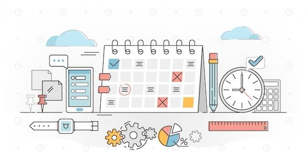 Planning overzicht concept illustratie Premium Vector