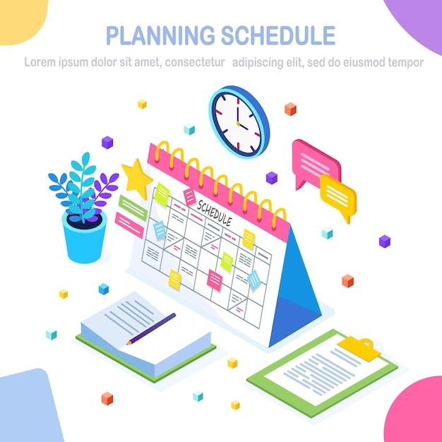 Planning schema concept. Premium Vector