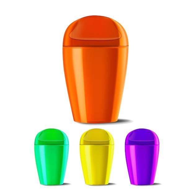 Plastic emmer Premium Vector