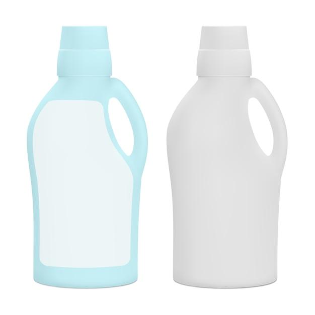 Plastic matte verpakking voor huishoudelijke schoonmaakproducten. Premium Vector