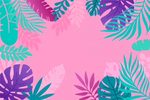 Plat abstract floral achtergrond Gratis Vector