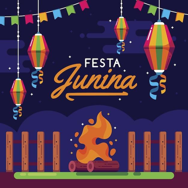 Plat festa junina concept Gratis Vector