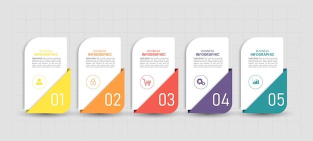 Plat infographic ontwerp. Premium Vector