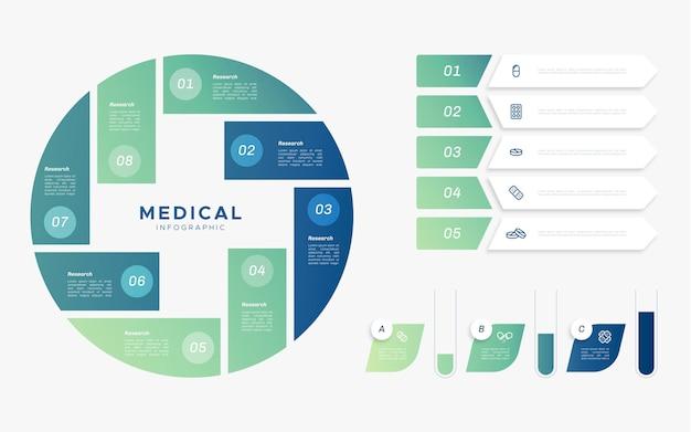 Plat medische infographics concept Gratis Vector