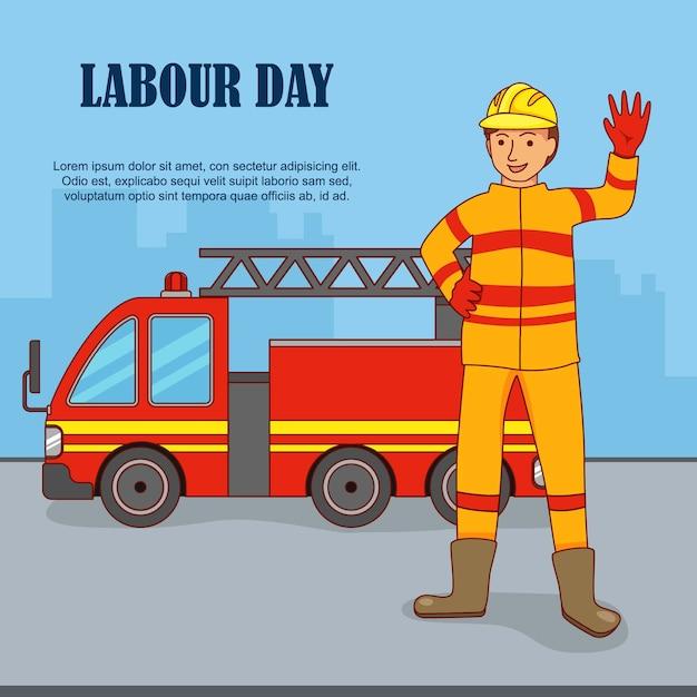 Plat ontwerp om de internationale dag van de arbeid te vieren. Premium Vector