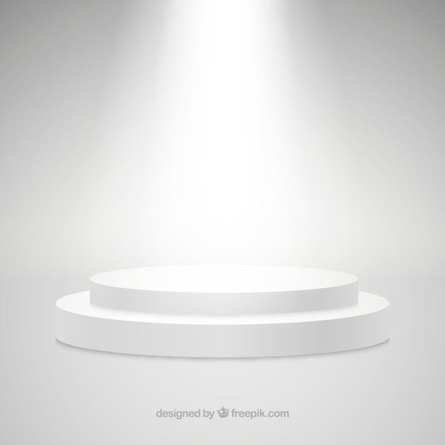 Plat podium met elegante bliksem Gratis Vector