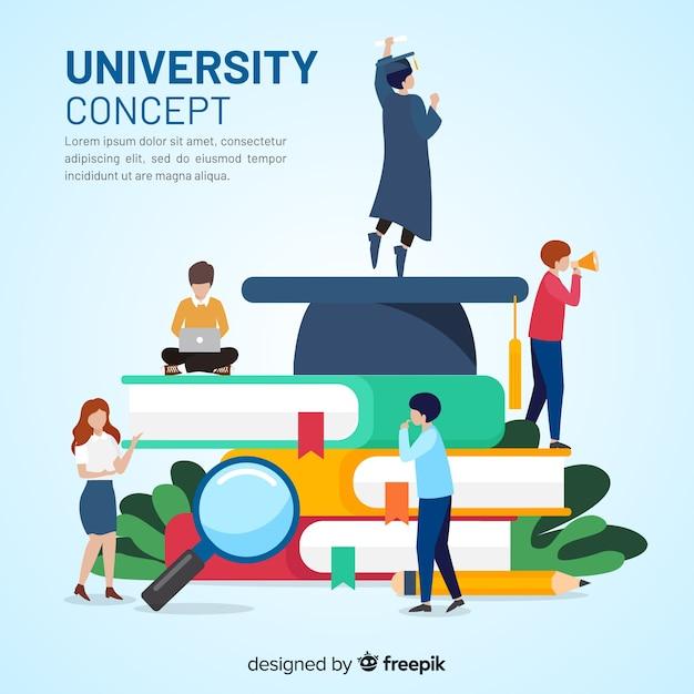 Plat universitair concept Gratis Vector