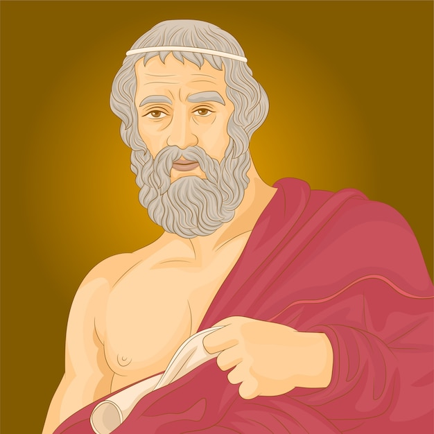 Plato-filosoof uit het oude griekenland Premium Vector
