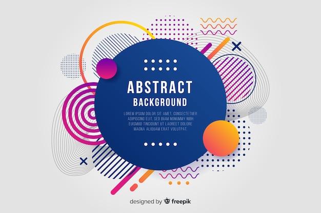 Platte abstracte afgeronde vorm achtergrond Gratis Vector