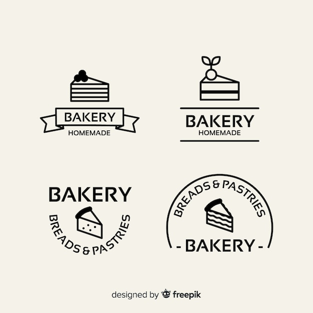 Platte bakkerij logo sjabloon Gratis Vector