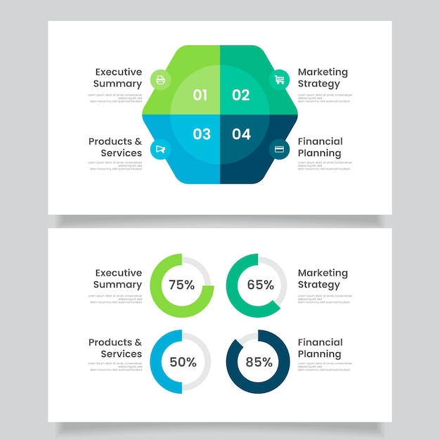 Platte bedrijfsconcept infographics Premium Vector
