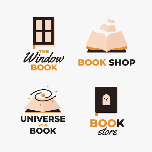 Platte boek universum logo-collectie Gratis Vector