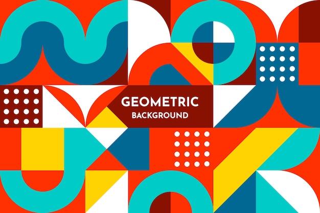 Platte geometrische vormen achtergrond Gratis Vector