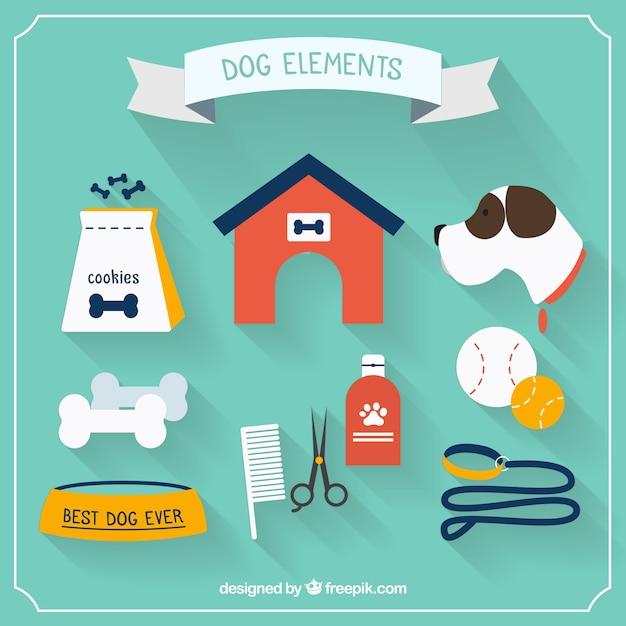 platte hond elementen vector gratis download. Black Bedroom Furniture Sets. Home Design Ideas