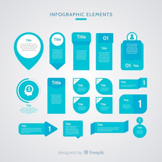 Platte infographic element Gratis Vector