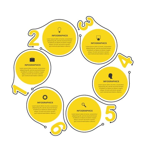Platte infographics-sjabloon. Premium Vector