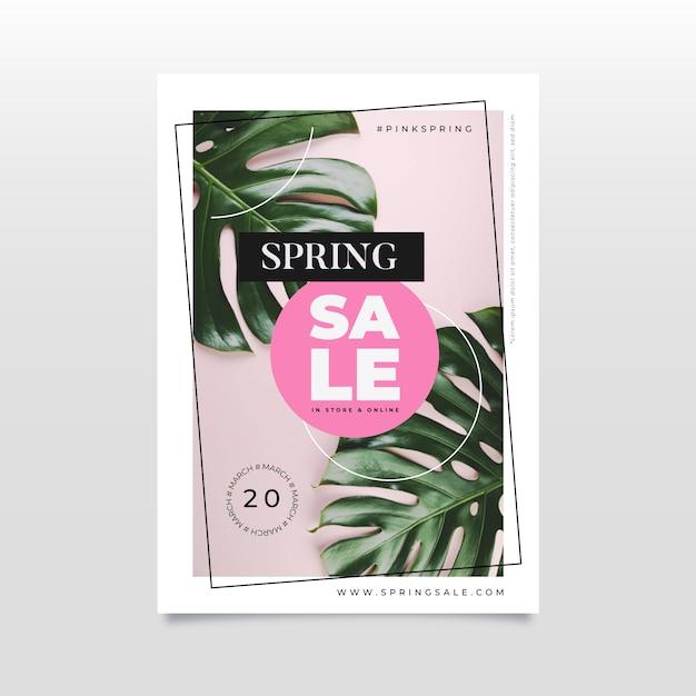 Platte lente verkoop flyer Gratis Vector