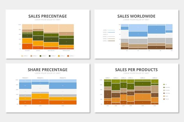 Platte mekko grafiek infographic Gratis Vector