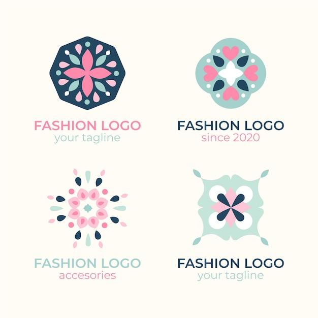 Platte mode-accessoires logo collectie Gratis Vector