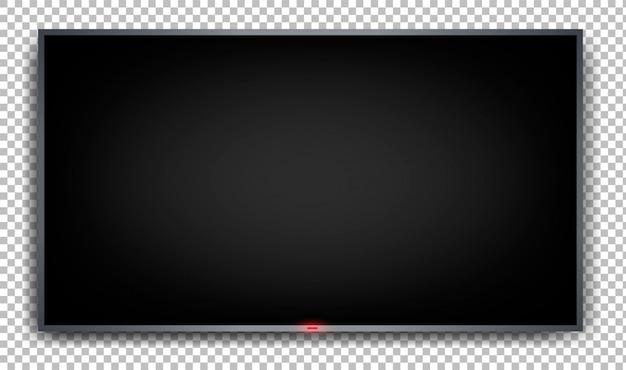 Platte monitor op een transparante achtergrond Premium Vector