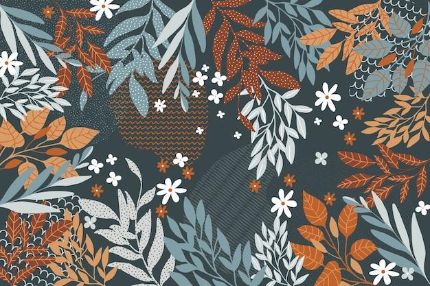 Platte ontwerp abstract floral thema voor achtergrond Gratis Vector