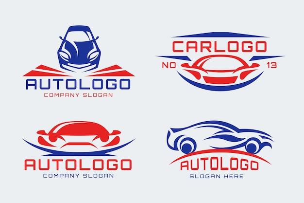 Platte ontwerp auto logo collectie Gratis Vector
