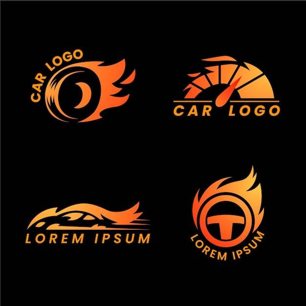 Platte ontwerp auto logo collectie Premium Vector
