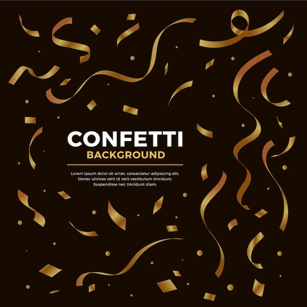 Platte ontwerp confetti achtergrond Gratis Vector