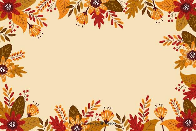 Platte ontwerp frame voor thanksgiving achtergrond Gratis Vector
