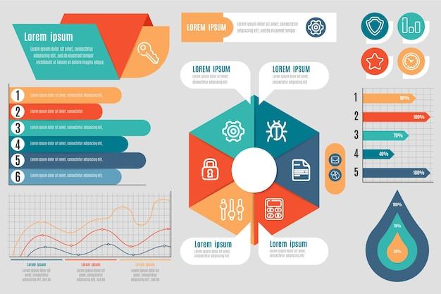 Platte ontwerp infographic elementen Gratis Vector