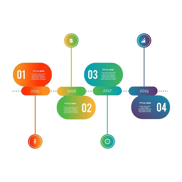 Platte ontwerp infographic stappen sjabloon Gratis Vector