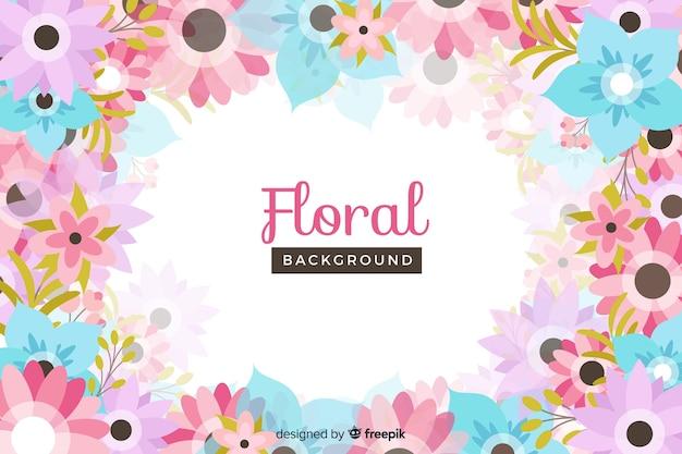 Platte ontwerp kleurrijke bloemen achtergrond Gratis Vector