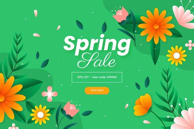 Platte ontwerp lente verkoop concept Gratis Vector
