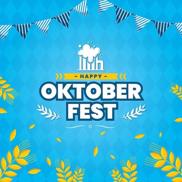 Platte ontwerp oktoberfest concept Gratis Vector