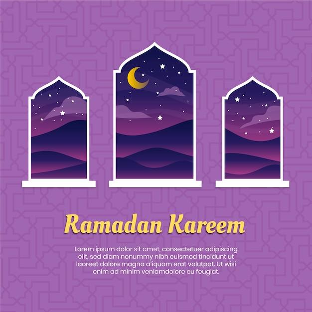 Platte ontwerp ramadan evenement thema Gratis Vector