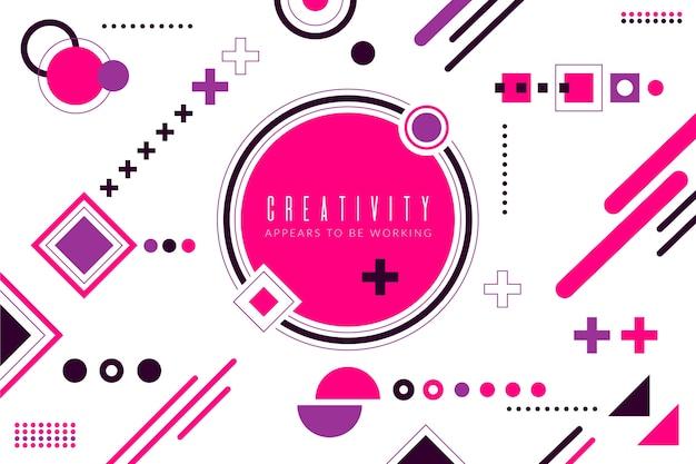Platte ontwerp roze geometrische vormen achtergrond Gratis Vector