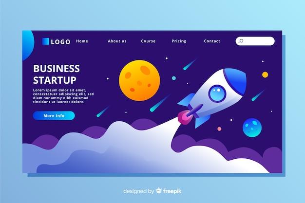 Platte ontwerp startup bestemmingspagina Gratis Vector