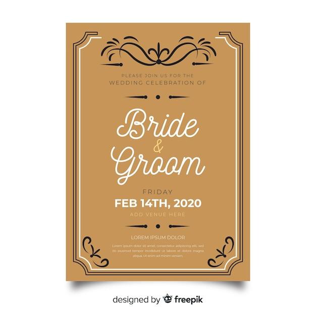 Platte ontwerp van bruidspaar collectie Gratis Vector