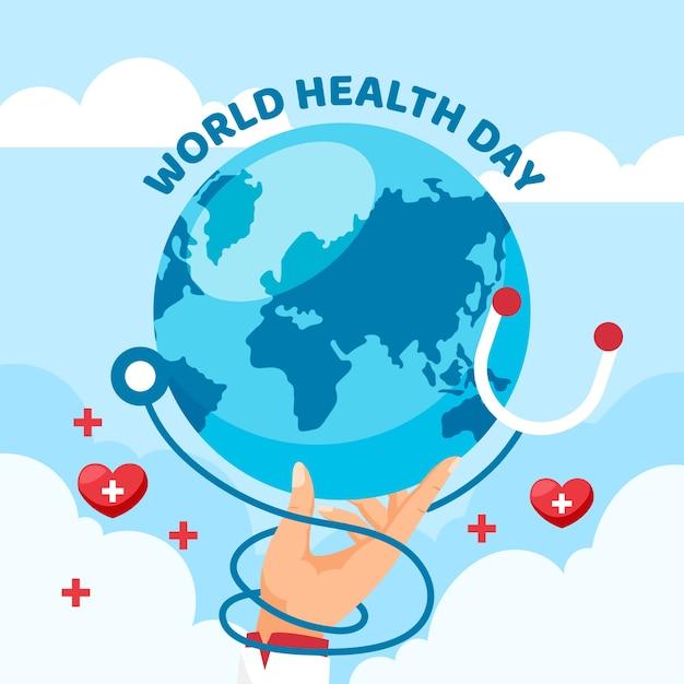 Platte ontwerp wereld gezondheid dag concept Gratis Vector