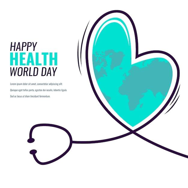 Platte ontwerp wereld gezondheid dag evenement Gratis Vector